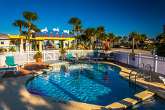 Swimming pool at the Magic Beach Hotel in Vilano Beach, Florida. Royalty Free Stock Photos