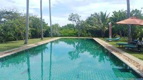 Swimming pool in mirissa sri lanka stock photos