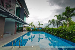 Swimming pool and modern building Stock Image