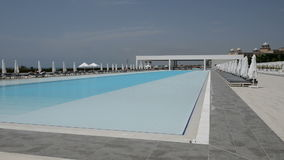 The swimming pool at the modern luxury hotel. Antalya, Turkey stock video footage