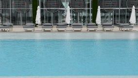 The swimming pool at the modern luxury hotel. Antalya, Turkey stock footage