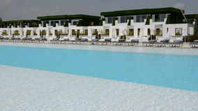 The swimming pool at the modern luxury hotel. Antalya, Turkey stock video