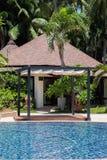 Swimming pool at modern luxury hotel, Samui Stock Image