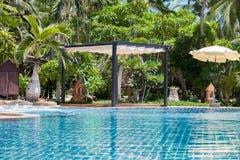 Swimming pool at modern luxury hotel, Samui Royalty Free Stock Photo