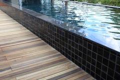 Swimming pool of modern resort Stock Photos