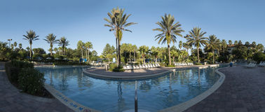 Swimming pool, morning panorama view, Orlando, Stock Images