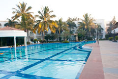 Swimming pool in morning Stock Images