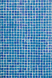 Swimming pool mosaic. Blue swimming pool mosaic tiles Stock Photos