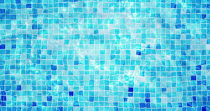 Swimming pool mosaic bottom caustics ripple like sea water and flow with waves background, sport and relax. Concept stock footage