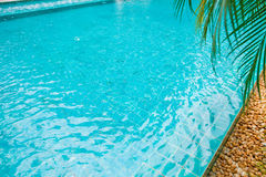Swimming pool with mosaic tiles Royalty Free Stock Image