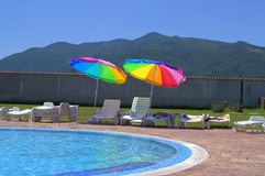 Swimming pool in mountain Stock Photography