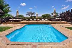 Swimming pool, Namibia Stock Images