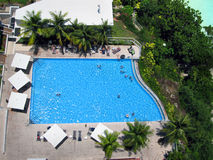 Swimming pool near beach in Guam island, USA, Pacific ocean Stock Photo