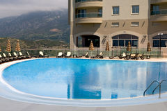 Swimming pool near the hotel Stock Photography