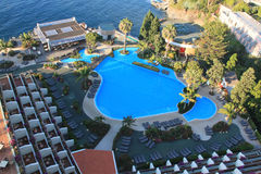 Swimming pool. Near the hotel. Island Madeira royalty free stock images