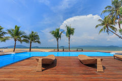 Swimming pool. Near Payam Beach Royalty Free Stock Image