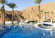 A swimming pool near resort hotel, Eilat, Israel Stock Photo