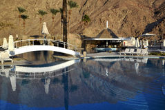 Swimming pool near resort hotel, Eilat, Israel Royalty Free Stock Images