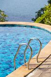 Swimming pool near the sea in island Koh Phangan, Thailand Stock Photo
