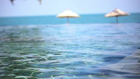Swimming pool near the sea, island Koh. Samui,Thailand. Video shift motion 1920*1080 stock video