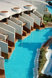 Swimming pool near VIP villas. Of modern turkish hotel Stock Image