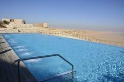 Swimming pool, Negev desert. Royalty Free Stock Image