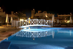 Swimming pool by night Stock Image
