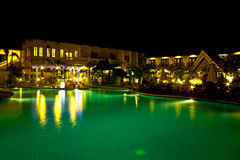 Swimming pool in the night Stock Images