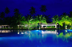Swimming pool in night Stock Photo