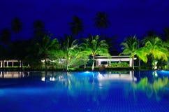 Swimming pool in night Stock Photo