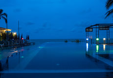 The swimming pool at night.  Stock Photo