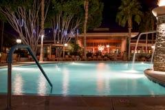 Swimming Pool at Night Stock Photos