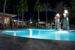Swimming Pool at Night Stock Image
