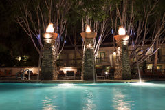 Swimming Pool at Night Royalty Free Stock Image