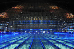 Swimming pool of olympic game. In beijing Stock Photography