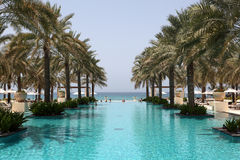 Swimming pool in Oman Royalty Free Stock Photos