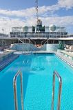 Swimming pool onboard Crystal Serenity cruise ship open deck Royalty Free Stock Images
