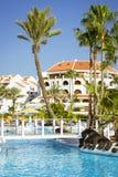 Swimming pool, open-air beach of luxury hotel, Playa de Las Amer Royalty Free Stock Image