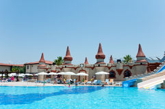 Swimming pool open-air, Turkey Royalty Free Stock Photography
