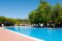 Swimming pool in  open air, Turkey Stock Photo