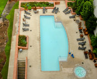 Swimming Pool. Outdoor Swimming Pool , aerial view Royalty Free Stock Photos
