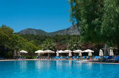 Swimming Pool Outdoor, Turkey Stock Images