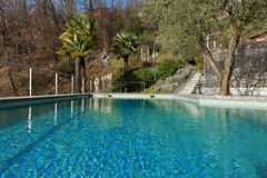 Swimming pool, outdoors Royalty Free Stock Photography