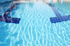 Swimming pool is outdoors Royalty Free Stock Photos