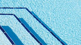 Swimming Pool. Overhead photography of ripples of water by steps in swimming pool stock images