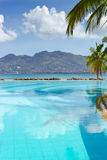 Swimming pool overlooking the mountains and sky Stock Images