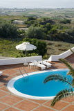 Swimming pool panoramic vista Stock Image