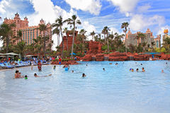 Swimming pool in Paradise Island, The Bahamas Royalty Free Stock Image