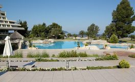 Swimming pool with park Stock Photography