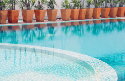 Swimming pool. The part of swimming pool Royalty Free Stock Photography